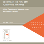 Dodd-Frank and New SEC Rulemaking Initiatives